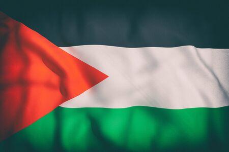 3d rendering of an old palestine flag waving