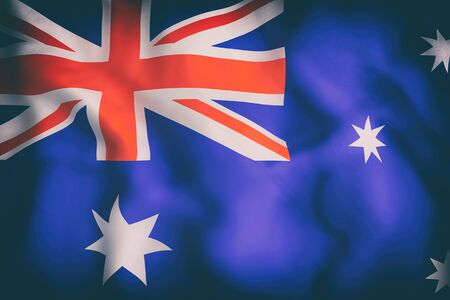 3d rendering of an old Australia and flag Stock Photo
