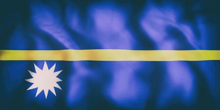 3d rendering of  an old Republic of Nauru flag waving