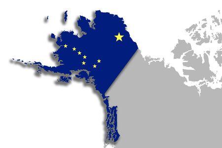 Ilustración Del Mapa Y La Bandera De La Silueta Del Estado De ...