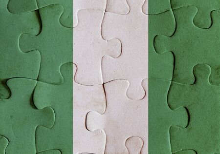 sahrawi arab democratic republic: Illustration of a flag of Sahrawi Arab Democratic Republic over some puzzle pieces. Its a JPG image.