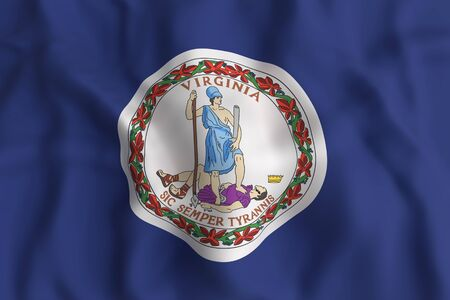 3d rendering of a Virginia State flag