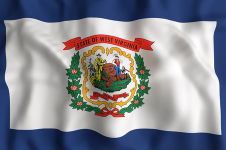 3d rendering of a West Virginia State flag