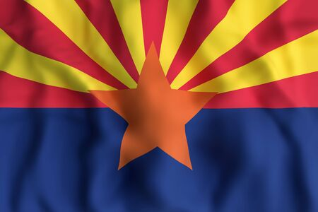 3d rendering of an Arizona State flag