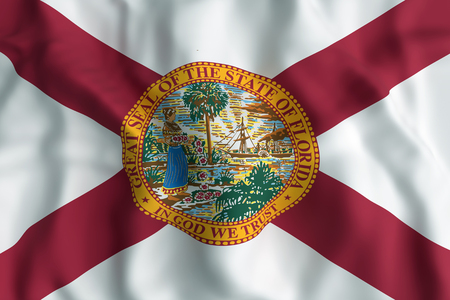 3d rendering of a Florida State flag Stock Photo