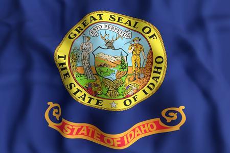アイダホ州の旗の 3 d レンダリングします。 写真素材