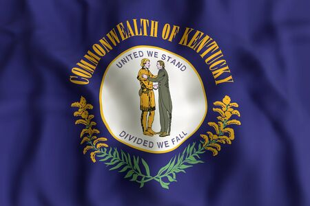 3d rendering of a Kentucky State flag. Stock Photo - 81457122