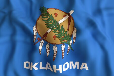 3d rendering of a Oklahoma State flag
