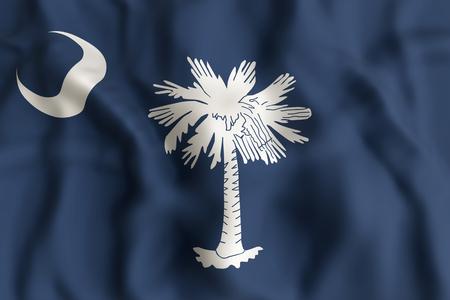 사우스 캐롤라이나 상태 플래그의 3d 렌더링