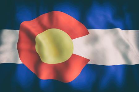コロラド州の旗の 3 d レンダリングします。
