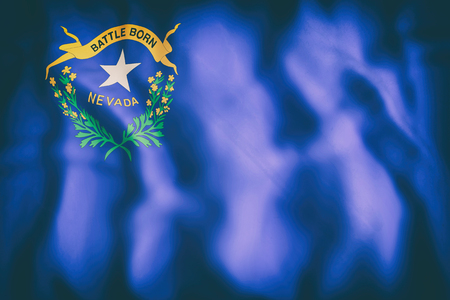 3d rendering of a Nevada State flag