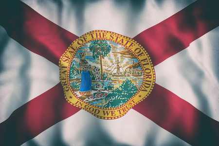 3d rendering of a Florida State flag 版權商用圖片