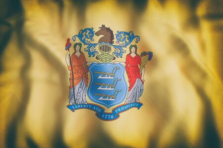3d rendering of a New Jersey State flag Stock fotó