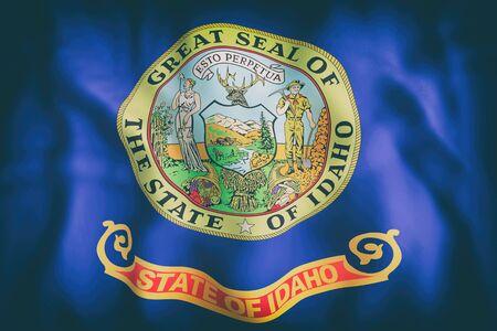 アイダホ州の旗の 3 d レンダリングします。 写真素材 - 85289132