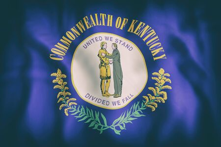 3d rendering of a Kentucky State flag.