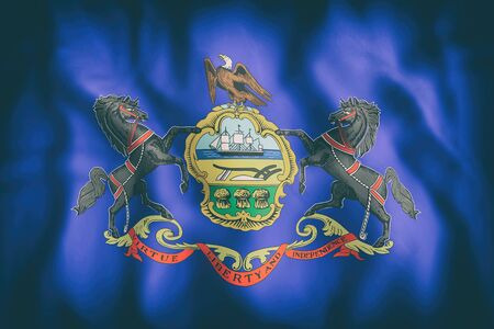 3d rendering of a Pennsylvania State flag