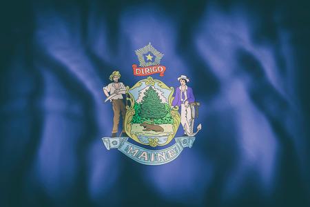 メイン州旗の 3 d レンダリング