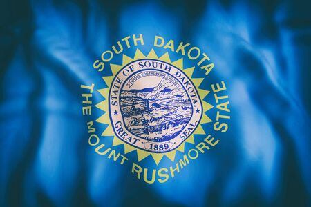 3d rendering of a South Dakota State flag