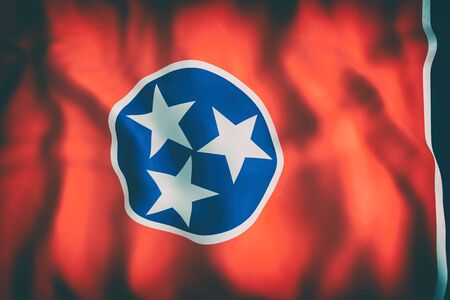3d rendering of a Tennessee State flag
