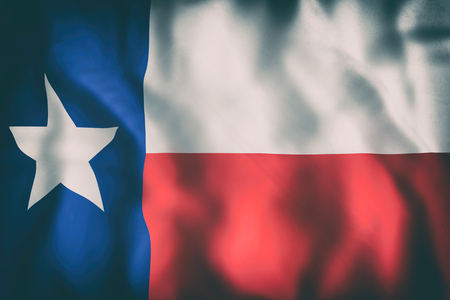 3d rendering of a Texas State flag
