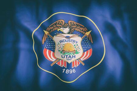 ユタ州旗の 3 d レンダリング 写真素材