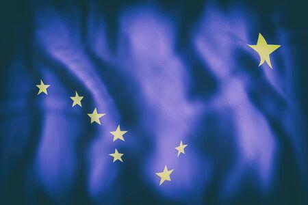 アラスカ州旗の 3 d レンダリング 写真素材