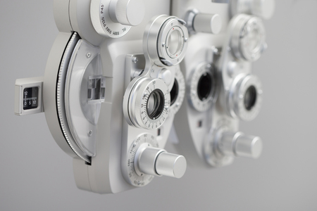 Phoropter, ophthalmic testing device machine Stock Photo - 95751016