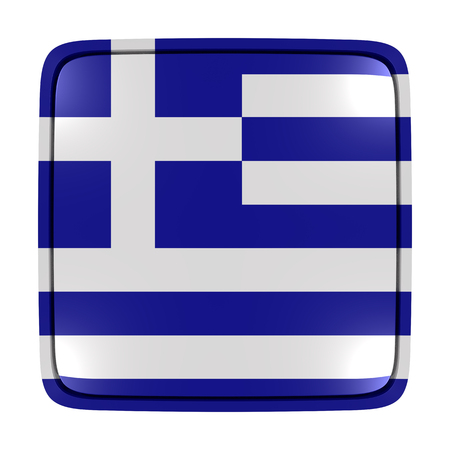3d rendering of a Greece flag icon. Isolated on white background.