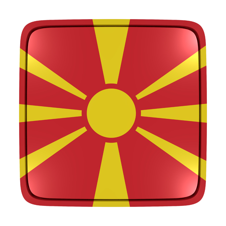 3d rendering of a Macedonia flag icon. Isolated on white background.