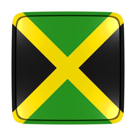 3d rendering of a Jamaica flag icon. Isolated on white background. Stock Photo
