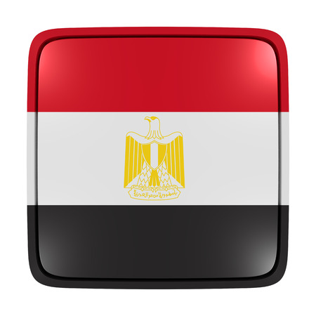 3d rendering of an Egypt flag icon. Isolated on white background.