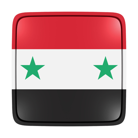 3d rendering of a Syria flag icon. Isolated on white background. Reklamní fotografie