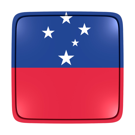 3d rendering of a Samoa flag icon. Isolated on white background.
