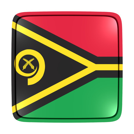 3d rendering of a Vanuatu flag icon. Isolated on white background.