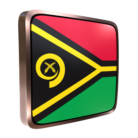 3d rendering of a Vanuatu flag icon with a bright frame. Isolated on white background.
