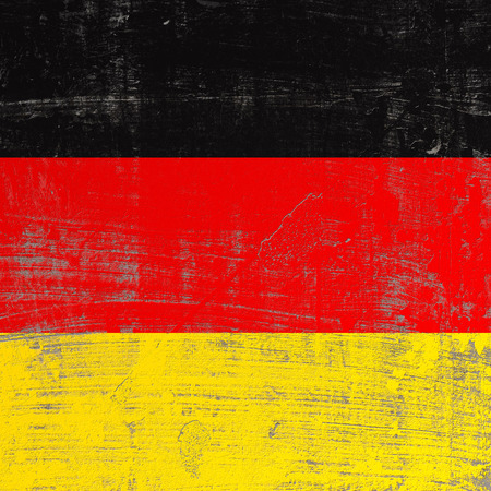 3d rendering of Germany flag in a scratched surface Stock Photo