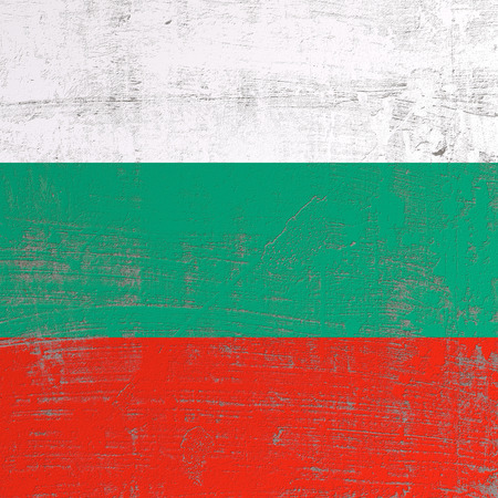 3d rendering of Bulgaria flag in a scratched surface Stock Photo