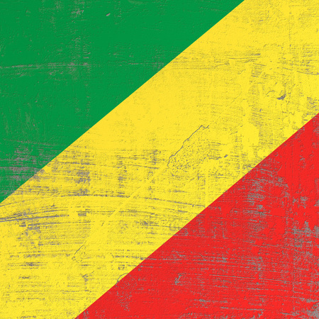 3d rendering of Republic of Congo flag in a scratched surface Standard-Bild - 100333290