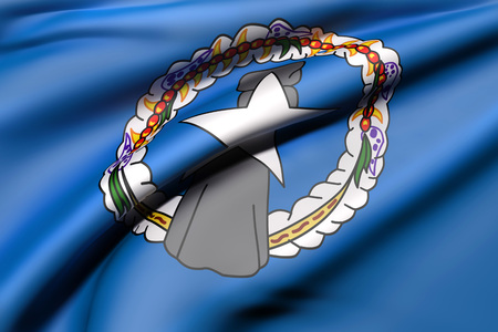3d rendering of Northern Mariana Islands flag waving