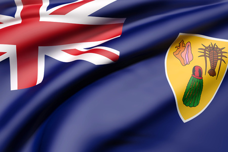 3d rendering of Turks and Caicos Islands flag waving Stock Photo
