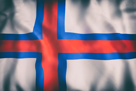 3d rendering of an old Faroe Islands flag waving Stock Photo - 100871384