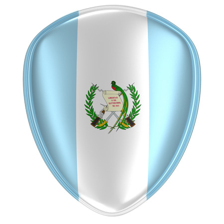 3d rendering of a Guatemala flag icon on white background.