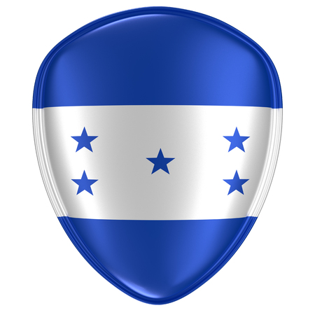 3d rendering of a Honduras flag icon on white background.