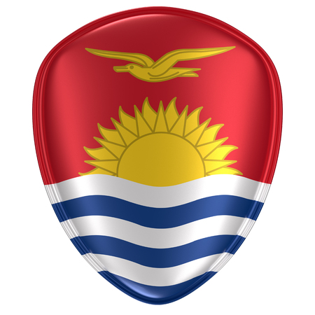 3d rendering of a Kiribati flag icon on white background.