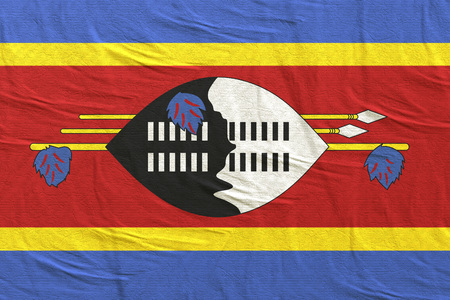 3d rendering of Kingdom of Swaziland flag Stock Photo