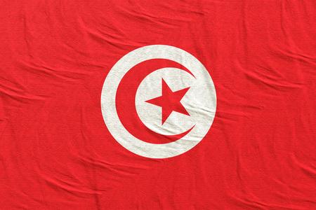 3d rendering of Tunisia flag