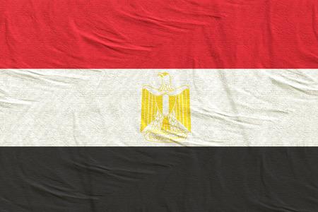 3d rendering of Egypt flag Stock Photo
