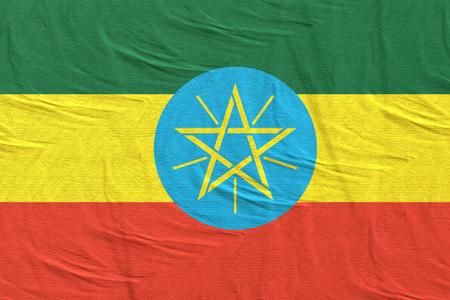 3d rendering of Ethiopia flag Stock Photo