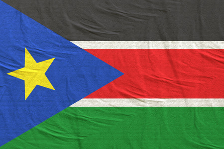 3d rendering of South Sudan flag