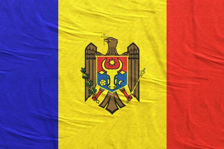 3d rendering of Republic of Moldova flag